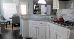 redone kitchen cabinets cabinet popular refinishing kitchen cabinets in mobile home