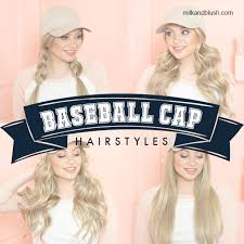 baseball hair styles baseball cap hairstyles hair extensions blog hair tutorials