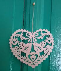 white shaped paper cut out ornament 6 50