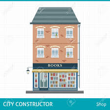 book store house with shop on first floor buildings for city