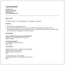 sample resume for photographer cover letter resume template
