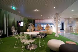 cool office design with creative interior and modern furniture for