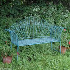 Shabby Chic Patio Decor by Garden Furniture Shabby Chic Metal Bench Vintage Look Bench