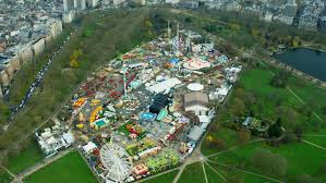 aerial view of hyde park uk stock footage 18716411