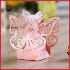 butterfly favor boxes free shipping 50pcs laser cut butterfly wedding candy box wedding