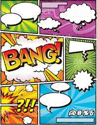 vintage comic book layout template stock vector art 501485968 istock