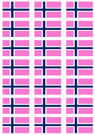 Flag Of Norway Norway Pride Flag Stickers 21 Per Sheet