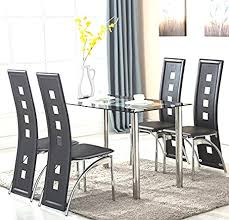 amazon dining table and chairs glass dining room table and chairs lovely amazon mecor 5 piece glass