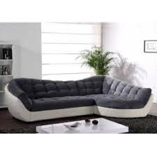 linea canapé linea sofa canapé d angle tissu et cuir leandro gris et blanc