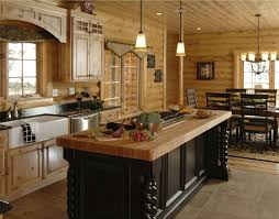 kitchens with islands log home kitchen islands pin by maple island log homes on log home