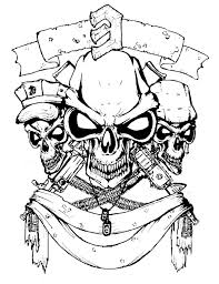 tribal joker skull tattoo design photo 13 real photo pictures