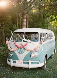 vw volkswagen van 6 wow worthy wedding exits wedding exits volkswagen bus and
