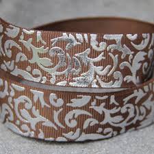 damask ribbon foil damask grosgrain ribbon 22mm