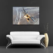 f18 fighter jet military airplane poster canvas print for home