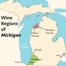 Michigan Brewery Map by Michigan Wineries Map Michigan Map
