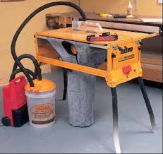 table saw vacuum dust collector triton workcentre dust bag modification stu s shed
