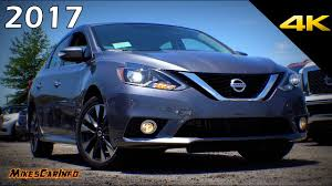 nissan sentra light blue 2017 nissan sentra sr turbo detailed look in 4k youtube