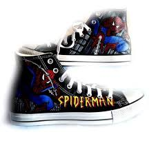 Wedding Shoes Converse Spiderman Shoes Converse Hand Painted Shoes Wedding Shoes