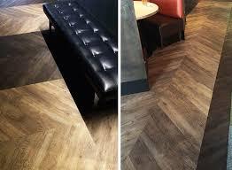parterre vinyl flooring installation chevron pattern elemental