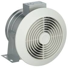 in wall exhaust fan for garage kitchen cfm white ceiling exhaust fan the home depot with heater