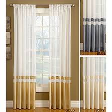 Top And Bottom Rod Curtains Overstock This Silk Banded Sheer Panel Can Be Hung From The Top
