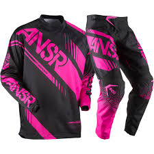 motocross helmets youth answer 2017 youth mx new syncron black pink jersey pant girls