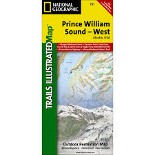 Alaska Marine Highway Map by 761 Prince William Sound West Trail Map National Geographic Store