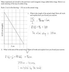 flying scale students are asked to find the length and area of an