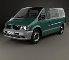 mercedes minivan mercedes benz vito w638 passenger van 1996 3d model hum3d