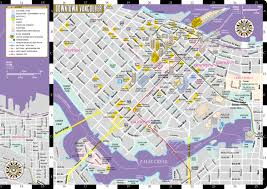 Georgia Southern Campus Map Streetwise Vancouver Map Laminated City Center Street Map Of
