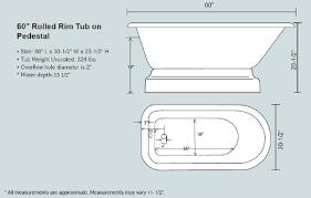 Pedestal Tub 60