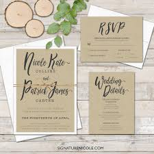 Invitation Card With Rsvp Rustic Wedding Invitation With Rsvp And Detail Cards Quick