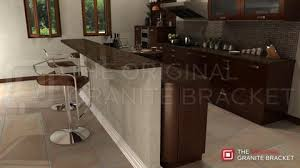 how to attach a countertop to a wall without cabinets how to install countertop support brackets the original granite