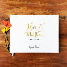 personalized guestbook wedding guest book landscape 1 hardcover wedding
