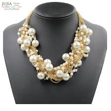 pearl necklace wholesale images 2017 new fashion necklace collar simulated pearl necklaces jpg