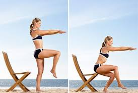 Chair Squat Summer Abs Without The Crunches