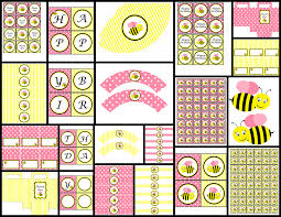 bumble bee decorations bumble bee theme pink printable party package party