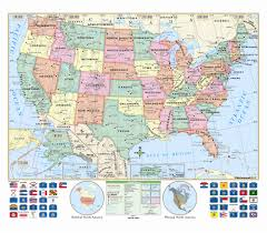 Mexico Map With States by Globe Us World Arkansas Classroom Wall Map Set Ships Free