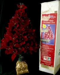 Color Changing Christmas Trees - puleo fiber optic color changing poinsettia christmas tree