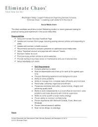 Social Media Resume Example by Resume Social Media Resume Sample