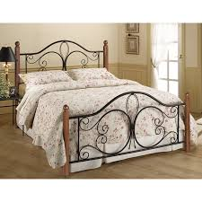 Metal Bedroom Furniture Hillsdale Milwaukee Wood Post Bed Hayneedle