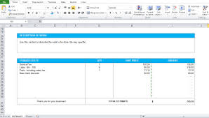 Microsoft Excel Estimate Template by Work Estimate Template Excel Format Excel Tmp