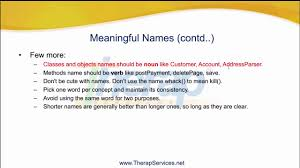 Mean Names Cs207 Clean Code Meaningful Names 3 3 Youtube