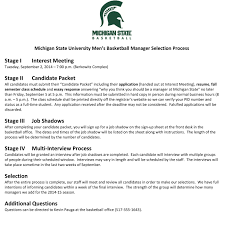 What Does A College Resume Look Like The Life Of A College Basketball Student Manager
