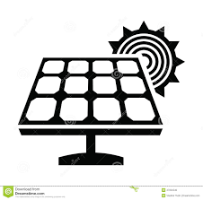 solar panels clipart solar panel icon stock vector image of silhouette industry