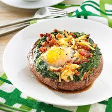 dinner egg recipes brunch style portobello mushrooms recipe taste of home