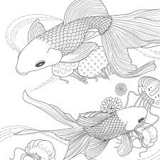 goldfishes coloring pages free coloring pages