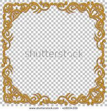 Oriental Design Orange Certificate Achievement Linear Background Customizable