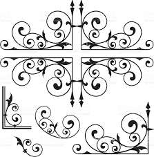 classical wrought iron ornaments stock vector 165590126 istock