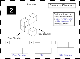 plan view plans and elevations from whiteboard maths